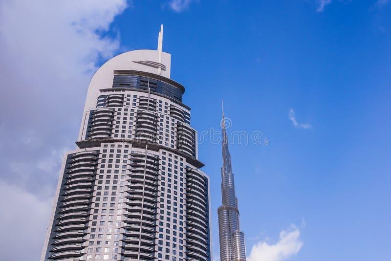 Det i stadens centrum Dubai för tilltala hotellet fotografering för bildbyråer