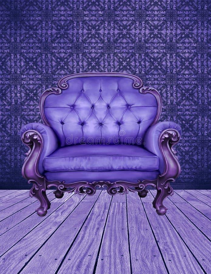 Det indigoblå rummet stock illustrationer