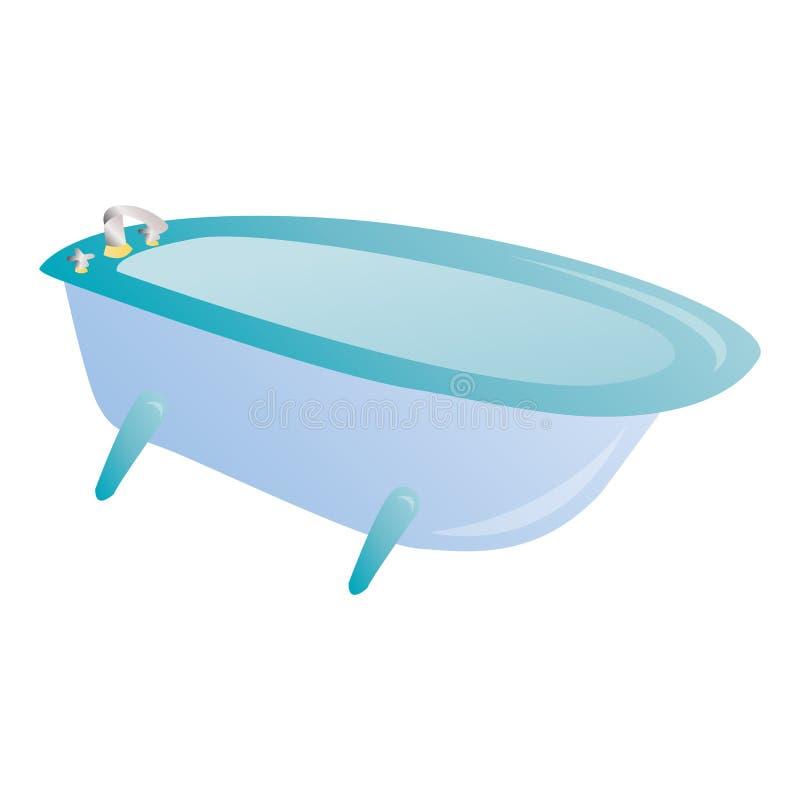 Det isolerade badet badar vektor illustrationer