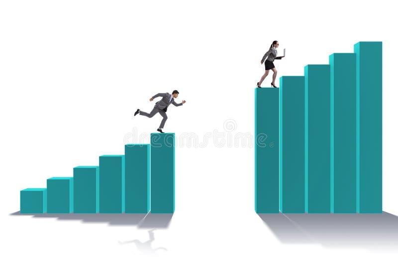 Det jaga affärsfolket i konkurrensbegrepp vektor illustrationer