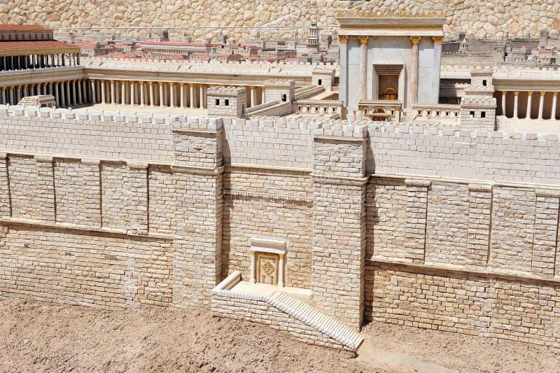 Det judiska tempelet på tempelmonteringen - modell arkivfoto