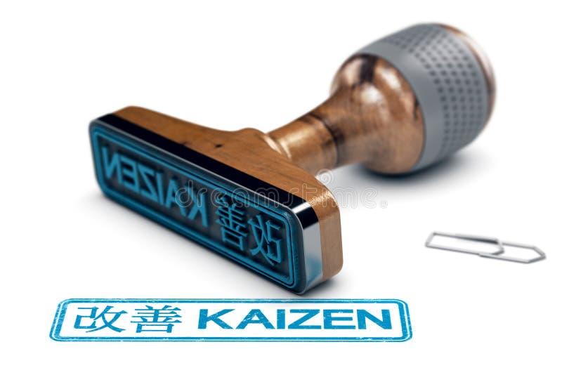 Det Kaizen ordet, fortlöpande förbättring och lutar tillverkning vektor illustrationer