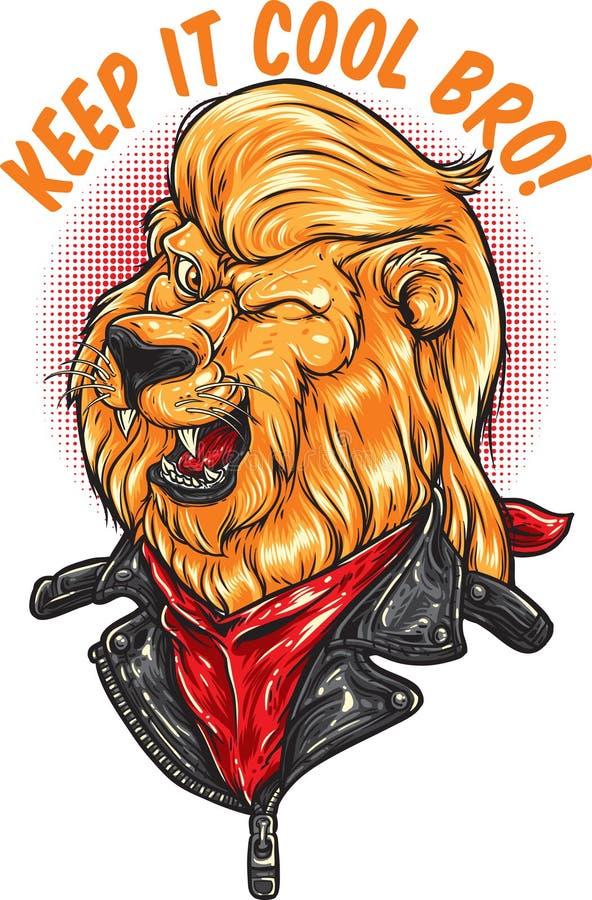 Det kalla lejonet royaltyfria foton
