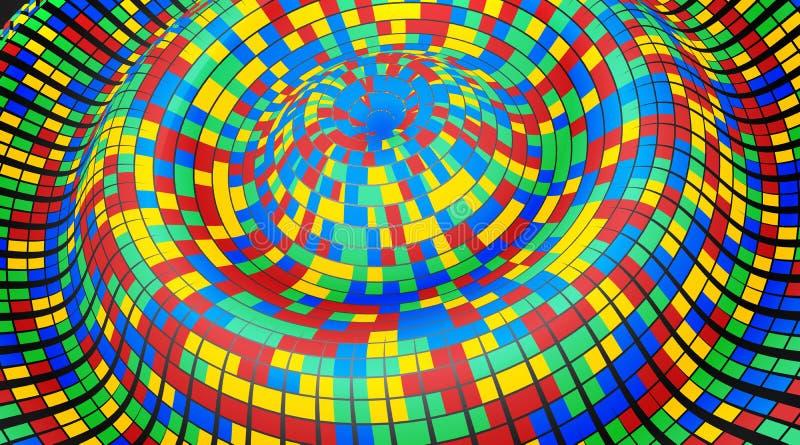 Det kan vara nödvändigt för kapacitet av designarbete Abstrakt 3D mosaik, glansiga rektanglar vektor illustrationer