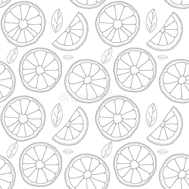 Det kan vara nödvändigt för kapacitet av designarbete Sömlös modell för apelsinfrukt stock illustrationer