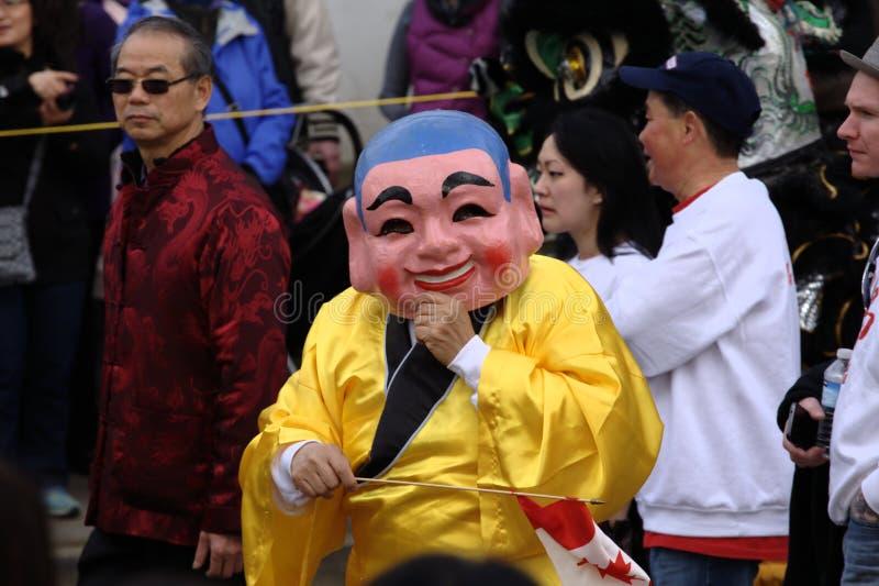 Det kinesiska nya året ståtar, Dai Tao Fut royaltyfria foton