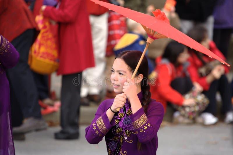 Det kinesiska nya året ståtar, TẠ¿ t Vietnam royaltyfria foton