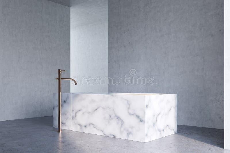 Det konkreta badrummet, marmor badar betong stock illustrationer
