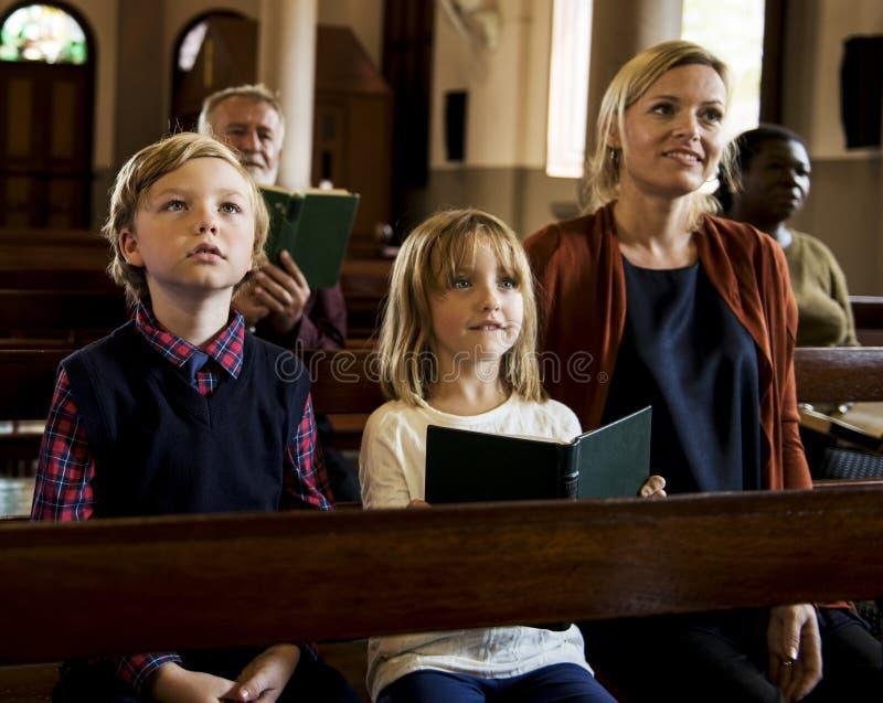 Det kyrkliga folket tror troklosterbroder fotografering för bildbyråer