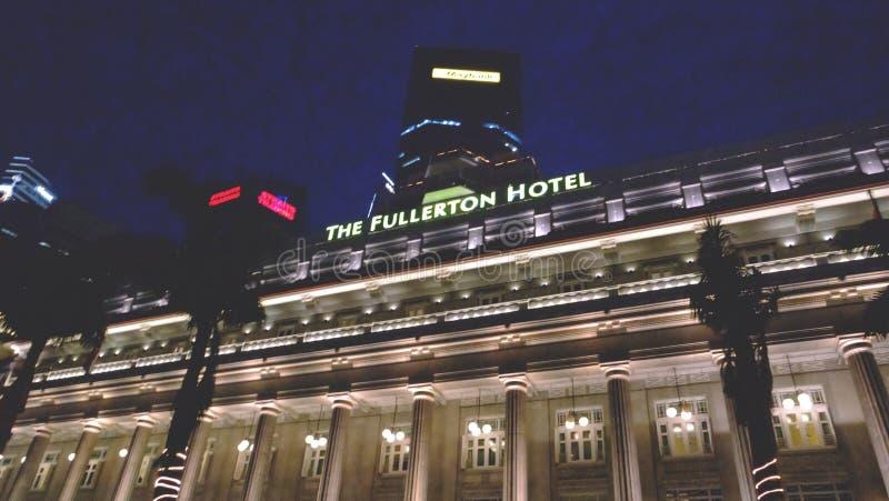 Det legendariska Fullerton hotellet royaltyfria foton