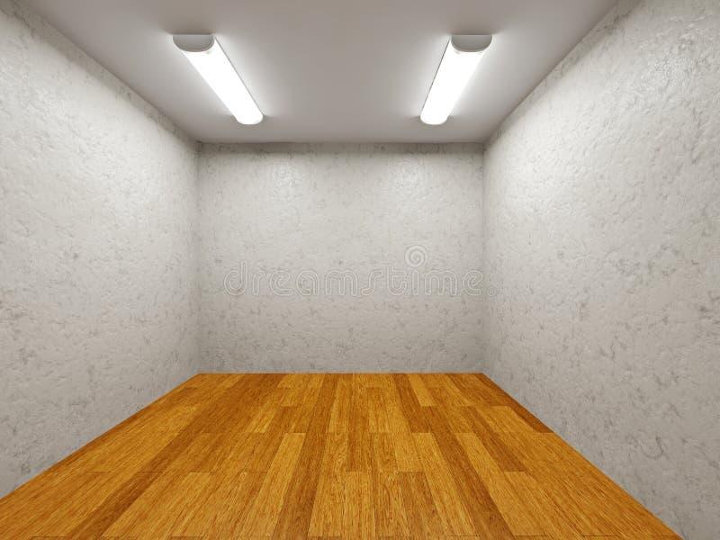 Det lilla rummet med cementväggen vektor illustrationer