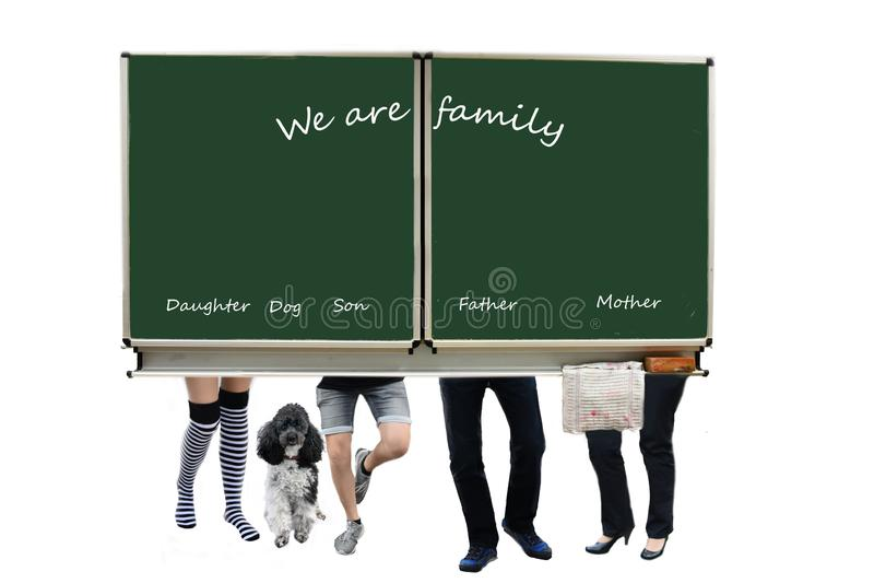 Det litet olika familjfotoet royaltyfria bilder