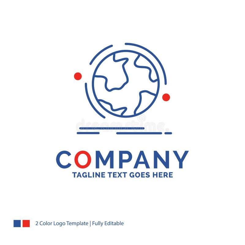 Det Logo Design For för företagsnamnet jordklotet, värld, upptäcker, anslutning vektor illustrationer