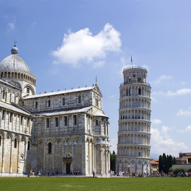 Det lutande tornet av Pisa royaltyfria foton