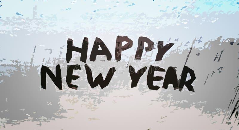 Det lyckliga nya året för inskrift royaltyfri foto
