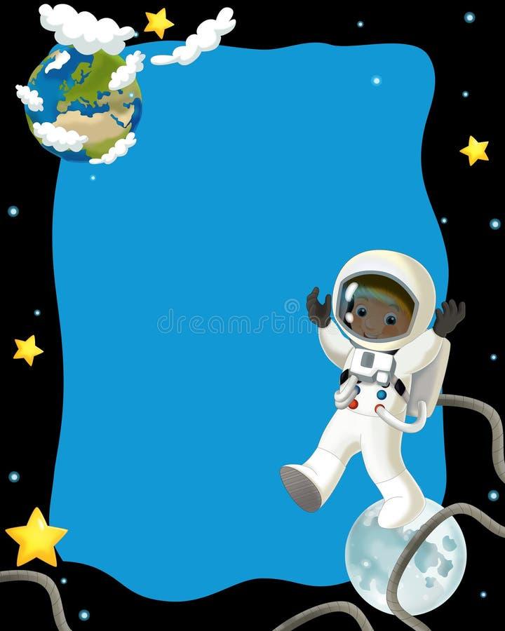 Det Lyckliga Och Roliga Lynnet För Utrymmeresan - - Illustration För Barnen Royaltyfri Fotografi