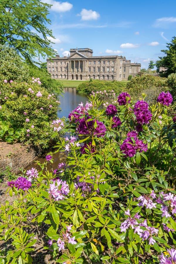 Det Lyme huset på Lyme parkerar Cheshire royaltyfri bild