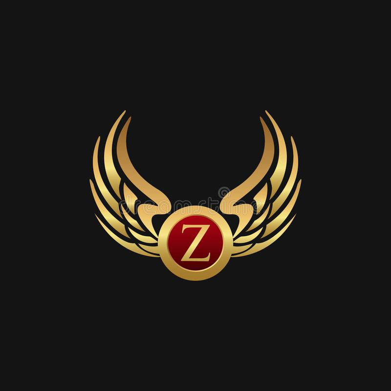 Det lyxiga emblemet för bokstav Z påskyndar mallen för logodesignbegreppet vektor illustrationer