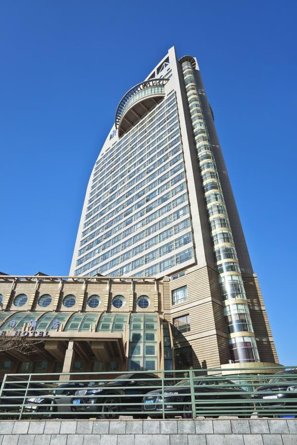 Det lyxiga fjärdkusthotellet i Dalian, Kina royaltyfri fotografi