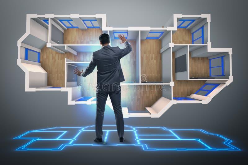 Det märkes- arbetet på futuristisk design för lägenhet 3d vektor illustrationer