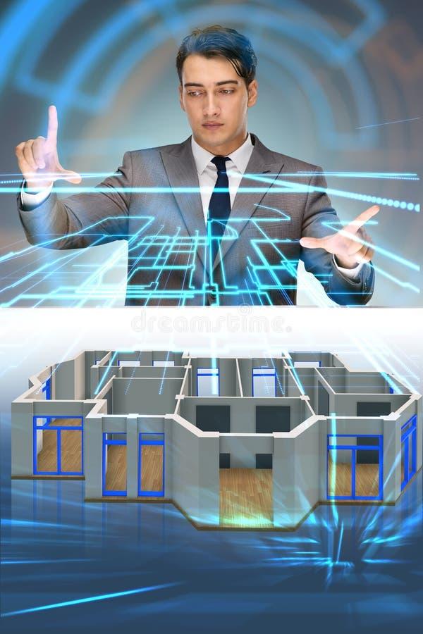 Det märkes- arbetet på futuristisk design för lägenhet 3d royaltyfri illustrationer