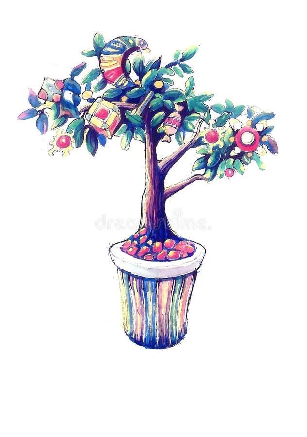 Det magiska trädet royaltyfri foto