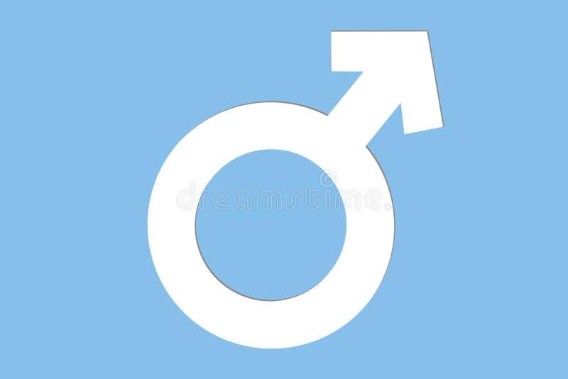 Det manliga eller manliga genussymbolet fördärvar tecknet Begreppsbakgrundsbild för den manliga genuset, manligt, man och pojke vektor illustrationer