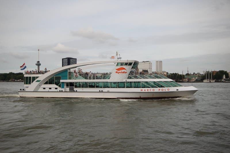 Det Marco Polo skeppet av det Spido företaget i Rotterdam arkivfoton