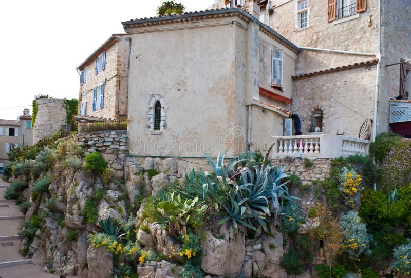 Det medeltida huset i Antibes arkivbilder