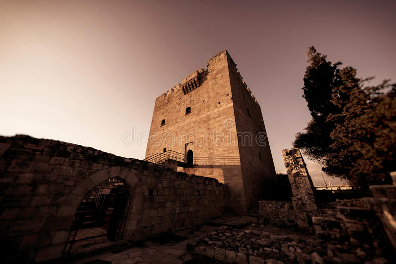 Det medeltida slottet av Kolossi Limassol område, Cypern royaltyfri foto