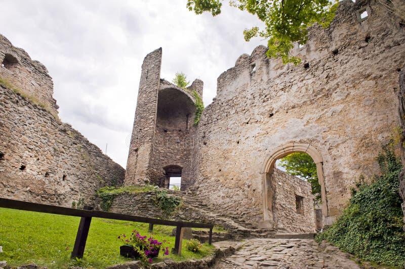 Det medeltida slottet fördärvar royaltyfri fotografi