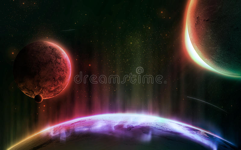 Det mer stora universum 2 royaltyfri illustrationer