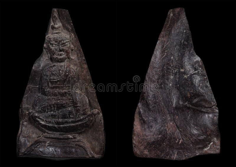 Det mest berömd av thailändska & Laos amuletter Phra Wan Champasak arkivfoto