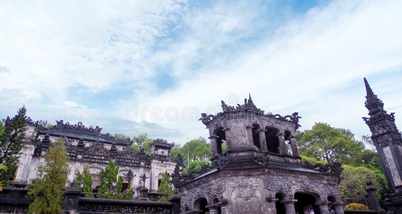 Det mest noterbara stället i Khai Dinh Tomb i Vietnam arkivbilder