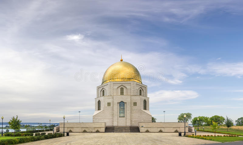 Det minnes- tecknet Kazan Tatarstan, Ryssland royaltyfria foton