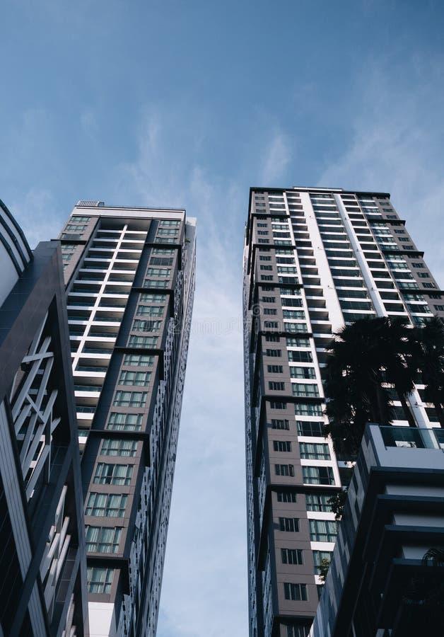 Det moderna byggnadsaffärsområdet av Bangkok fotografering för bildbyråer