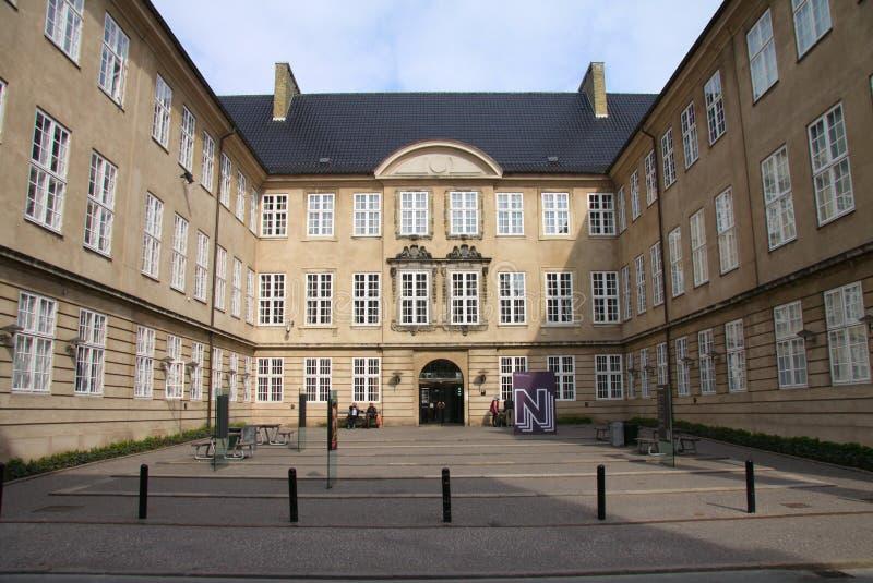Det nationella museet av Danmark i Köpenhamnen viktigaste Denmark's och störst kulturellt och historiskt museum som består av h royaltyfri bild