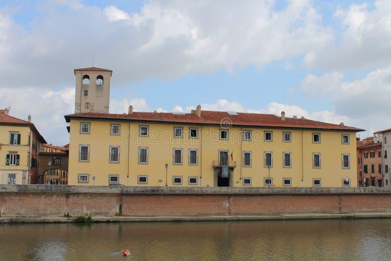 Det nationella museet av Royal Palace i Pisa, Tuscany Italien arkivfoto