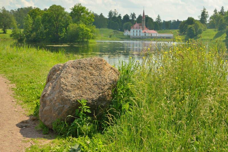 Det naturliga landskapet i sommaren arkivfoton