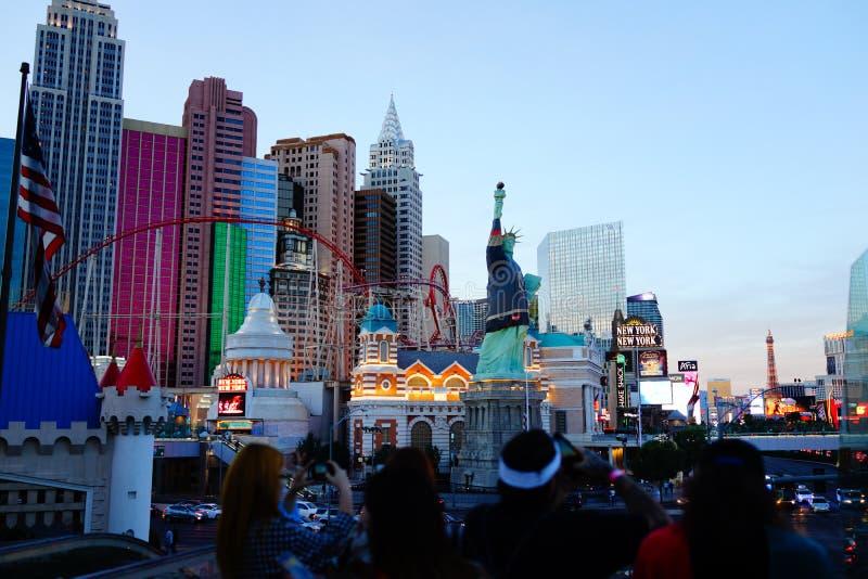 Det New York New York hotellet & kasinot 19 arkivbilder