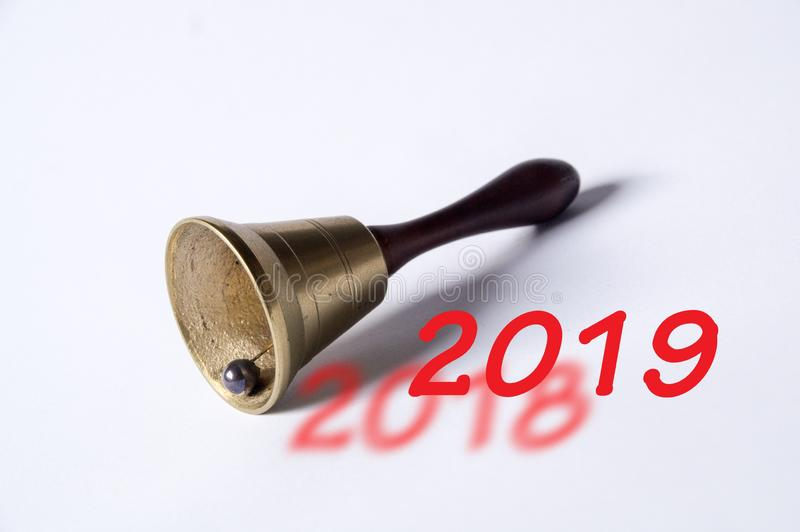 Det nya året 2019 är kommande arkivfoton
