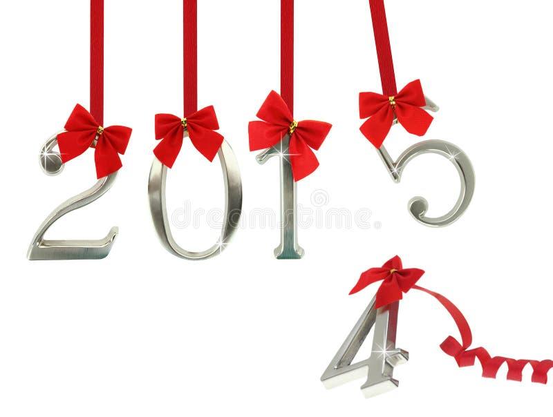 Det nya året 2015 är kommande royaltyfria bilder