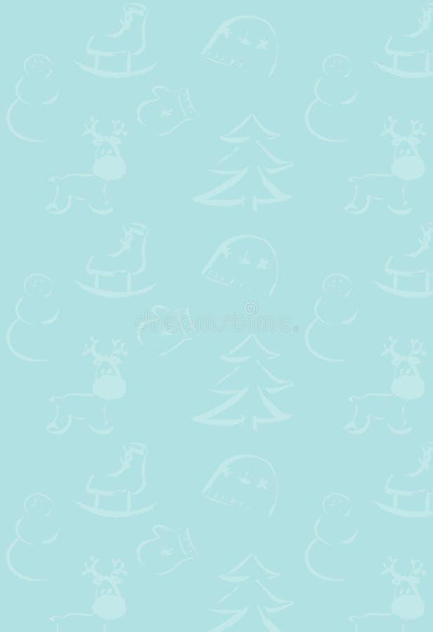 Det nya året och att gifta sig Cristmas teckningsbakgrund stock illustrationer
