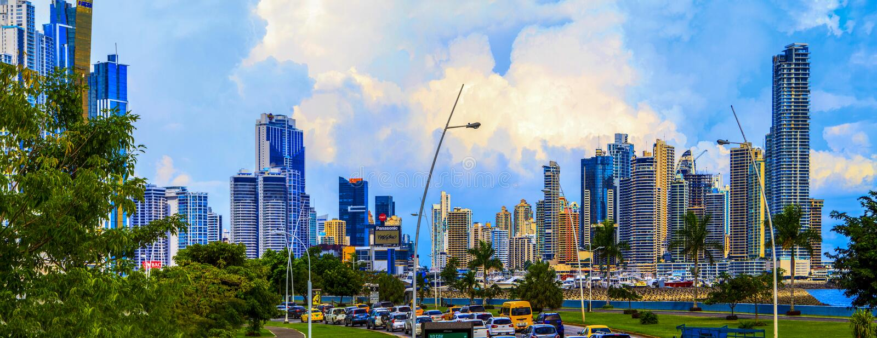 Det nya Panamaet City royaltyfria foton