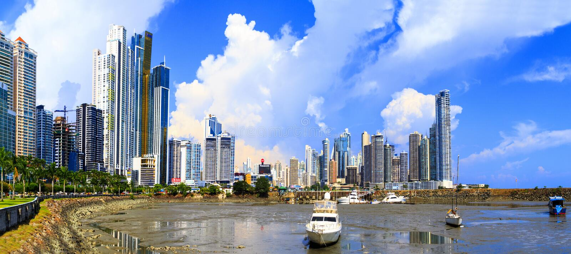 Det nya Panamaet City arkivfoton
