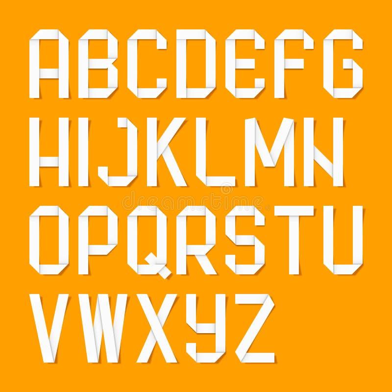 Det Origami alfabetet märker royaltyfri illustrationer