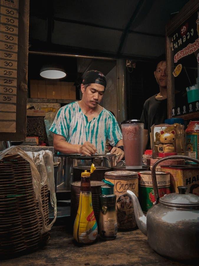 Det original- thailändska kafét fotografering för bildbyråer