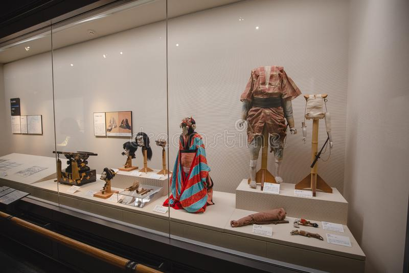 Det Osaka historiemuseet i osaka Japan, m?nga personer kommer h?r dagligt arkivfoton