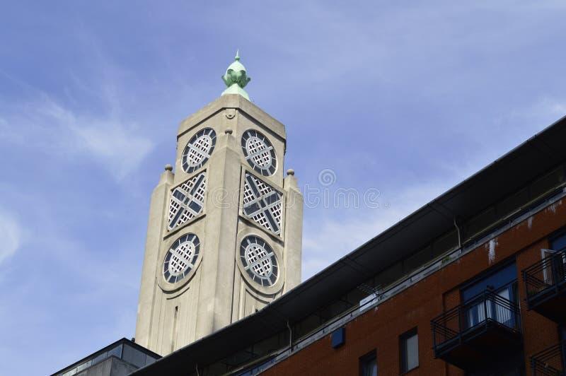 Det Oxo tornet en byggnad på den södra banken i London UK arkivfoton