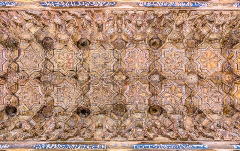 Det Palatine kapellet från den Norman Palace Palazzo deien Normanni i Palermo italy sicily royaltyfria bilder